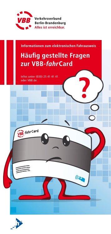 Häufig gestellte Fragen zur VBB-fahrCard - Havelbus ...