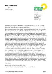 Peter: Finanzierung des Öffentlichen Nahverkehrs langfristig sichern ...