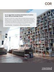 Es ist eingerichtet: bei Heide & Bechthold in Frankfurt, Ihrem COR ...