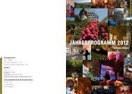 JAHRESPROGRAMM 2012 - Schloss Heidegg