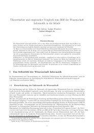 Theoretischer und empirischer Vergleich zum Bild der Wissenschaft ...