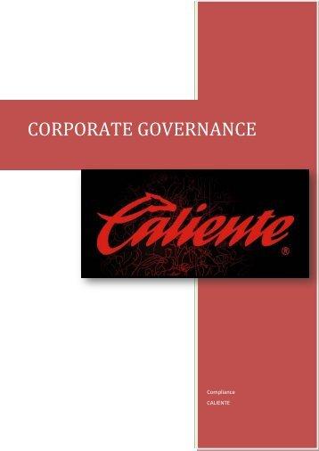 CORPORATE GOVERNANCE - Grupo Caliente