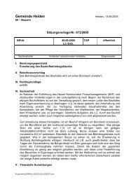 SV-Nr: 073/2005 - in der Gemeinde Heiden