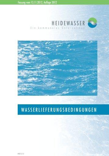 WASSERLIEFERUNGSBEDINGUNGEN - Heidewasser GmbH
