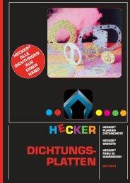 H CKER DICHTUNGS- PLATTEN E - HECKER WERKE GmbH