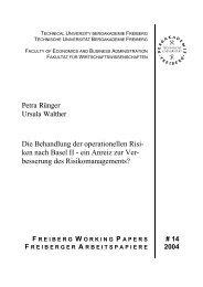 Behandlung der operationellen Risiken nach Basel II - Fakultät 6