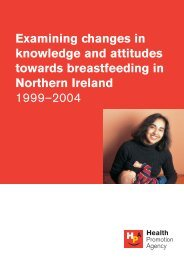 Breastfeeding Research Report - Health Promotion Agency