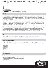 Sweex ADSL Modem/Router 11G Annex A/B (CC400020) - Grafi-Call