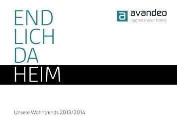 ENDLICH DAHEIM – Unsere Wohntrends 2013/2014