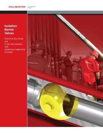 Isolation Barrier Valves - Halliburton