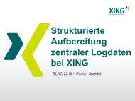 Strukturierte Aufbereitung zentraler Logdaten bei XING - Heinlein