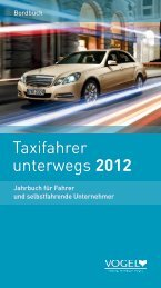 Taxifahrer unterwegs 2012 - Verlag Heinrich Vogel