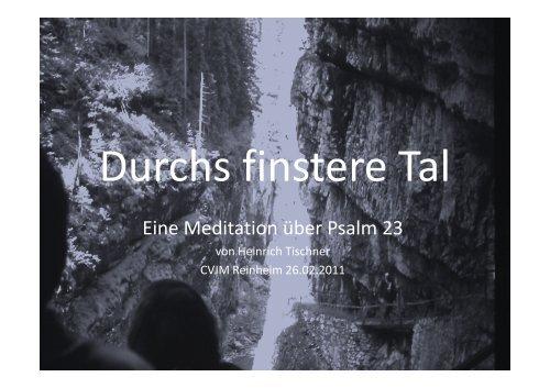 Bildmeditation 2011 - Heinrich Tischner