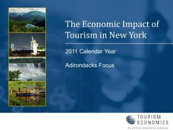 The Economic Impact of Tourism in New York - Hamilton County