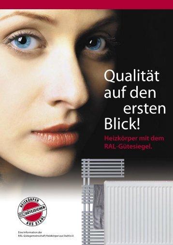 Broschüre 2007 - RAL-geprüfte Heizkörper - *** RAL-Gütezeichen