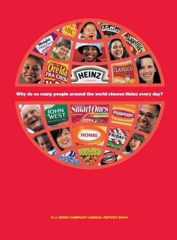 H.H. Heinz Company Annual Report 2004