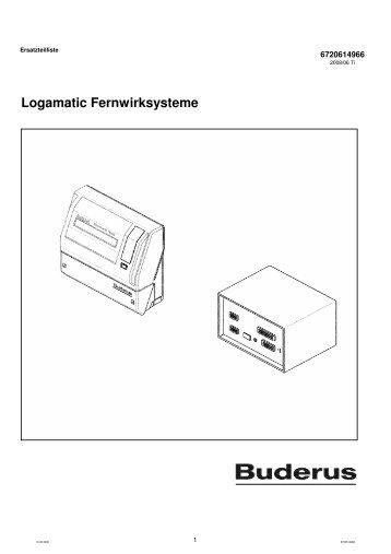 Logamatic Fernwirksysteme