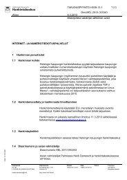 TARJOUSPYYNTÖ H039-13-1 1 (9) DnroHEL 2013 ... - Helsinki