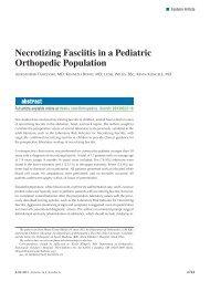 Necrotizing Fasciitis in a Pediatric Orthopedic Population - Healio