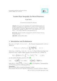 Landen-Type Inequality for Bessel Functions - Heldermann-Verlag