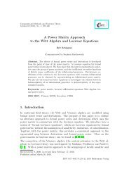 A Power Matrix Approach to the Witt Algebra and Loewner Equations