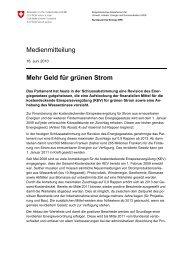 Medienmitteilung Mehr Geld für grünen Strom - Helion Solar AG