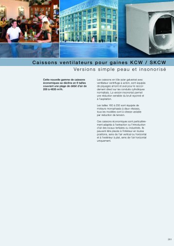 Caissons ventilateurs pour gaines KCW / SKCW - HELIOS ...