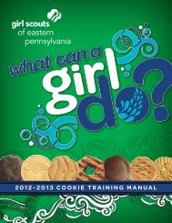 2012-2013 Cookie Training Manual - Girl Scouts of Eastern ...