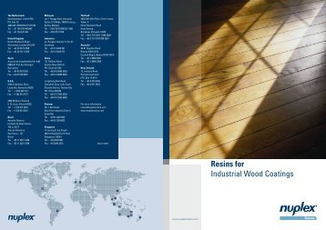 Resins for Industrial Wood Coatings - Hedinger
