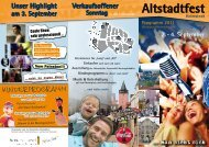 Altstadtfest - helmstedt aktuell Stadtmarketing