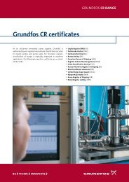 Grundfos CR certificates