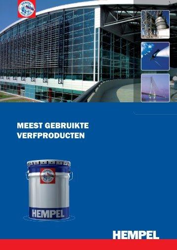 Brochure 'Meest gebruikte verfproducten' - Hempel