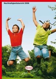 Nachhaltigkeitsbericht 2006 - Henkel