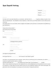 Spar Depot® Vertrag - Brinkmannbleimann