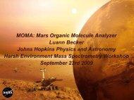 Mars Organic Molecule Analyzer (MOMA) - Harsh-Environment ...