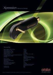 Download Xpression Productsheet - Ortofon