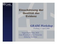 GRADE W k h Workshop - GRADE working group