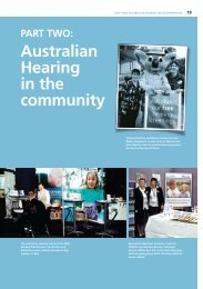 Part Two: Australian Hearing in the community