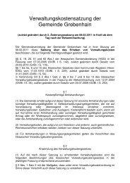 Verwaltungskostensatzung - Grebenhain