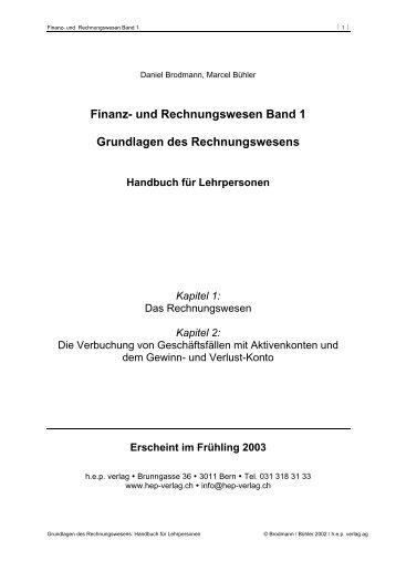Finanz- und Rechnungswesen Band 1 Grundlagen des ... - hep verlag
