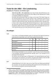 Texte für den ABU – Ein Lesetraining - hep verlag