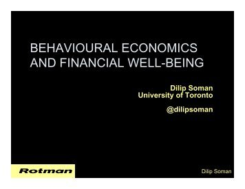 BEHAVIOURAL ECONOMICS AND FINANCIAL WELL-BEING