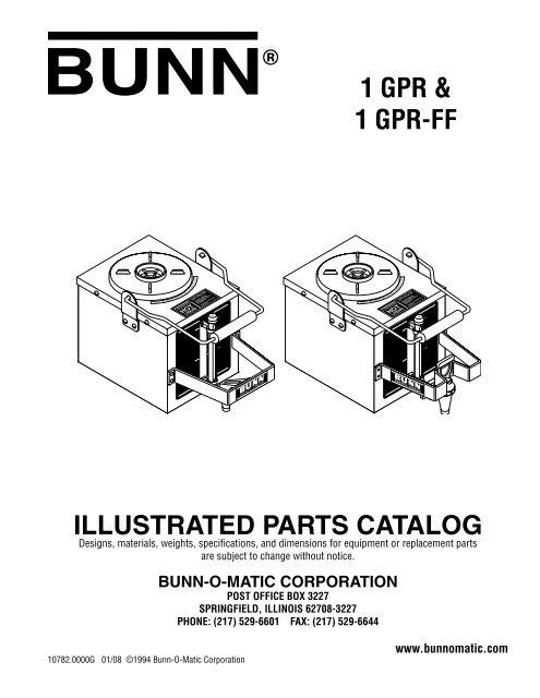 Bunn 12328.0000 Reservoir Gpr Lid Assembly Large Appliance ...