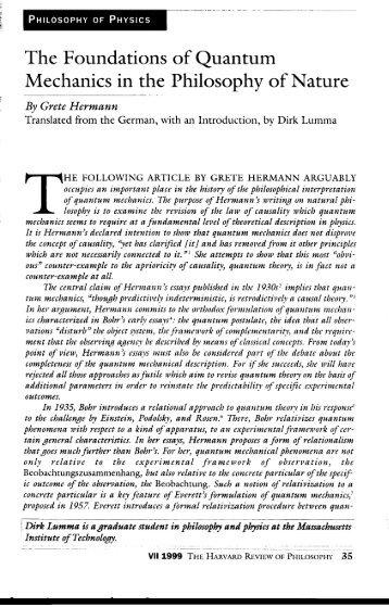 the theoretical foundations of quantum mechanics pdf free