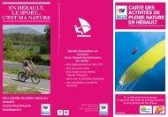 Annuaire des activités pleine nature en Hérault - Conseil Général de ...
