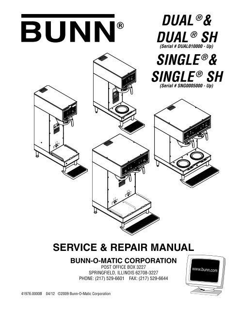 dual sh single sh repair manual - bunn