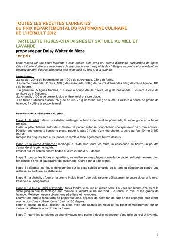 Recettes du Prix du patrimoine culinaire 2012 (pdf) - Conseil ...