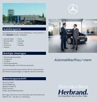 Automobilkauffrau/-mann - Mercedes-Benz Herbrand GmbH