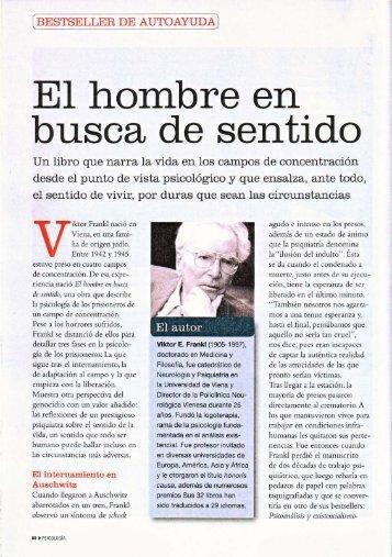Artículo El hombre en busca de sentido - Herder Editorial