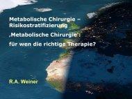 Risikostratifizierung 'Metabolische Chirurgie': für wen die richtige ...